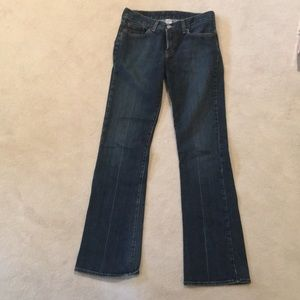 Size2/26 Lucky Brand wide-bottom jeans.